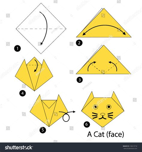 Simple Origami Cat - step by step origami cat 28 images origami learn how
