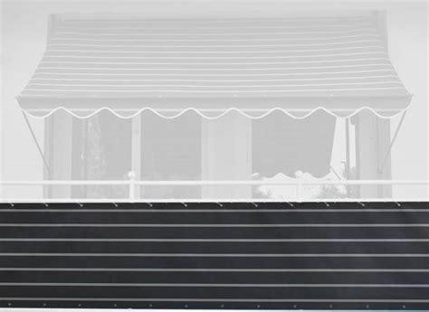 markisen paradies gutschein balkonbespannung 75 cm design nr 2400 braun