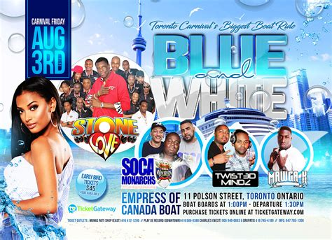 boat ride toronto blue and white carnival boat ride 2018 toronto tickets