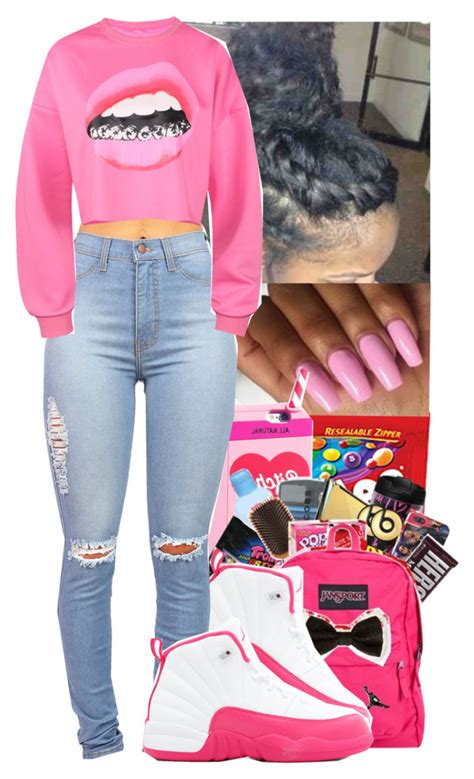 girl with swag and jordans outfit polyvore clothes and baddie