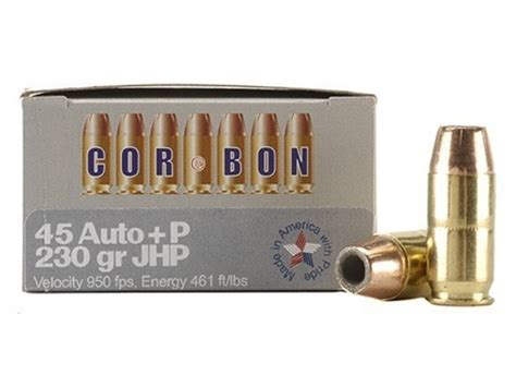 cor bon self defense ammo 45 acp p 230 grain mpn