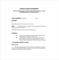 agreement template 13 license agreement templates free sle exle
