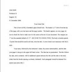 Mla Essay Style by Mla Style