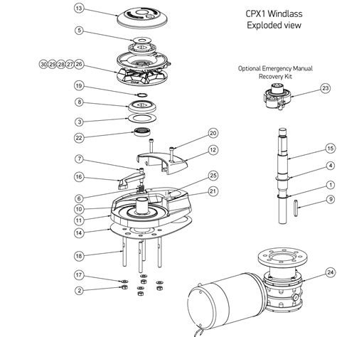 lewmar windlass parts diagram cpx1 windlass spares lewmar