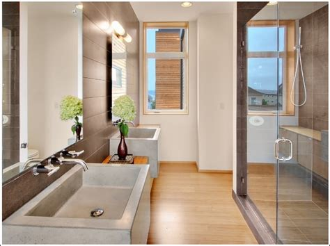 free bad design luxurious bathrooms with wooden floors