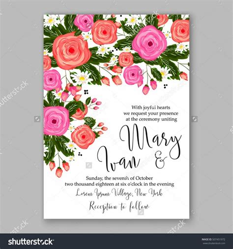 flower design wedding invitation wedding invitation printable template with floral wreath