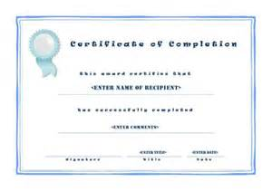 microsoft word certificate of completion template certificate of completion template microsoft word