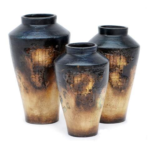 Vase Set Of 3 by Reynosa Black Vases Set Of 3