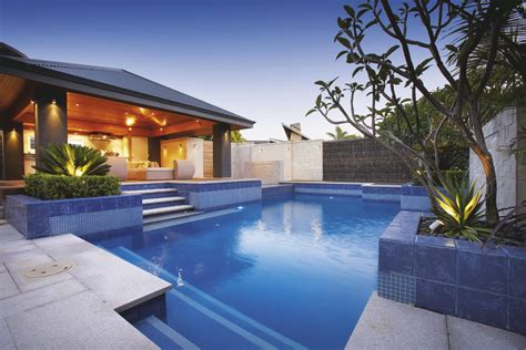modern home design with pool beautiful backyard with succulent planter and pleasant