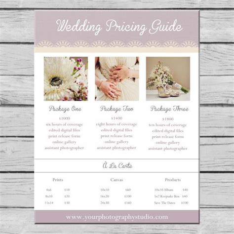 free photography pricing guide template 17 best ideas about wedding photography pricing on