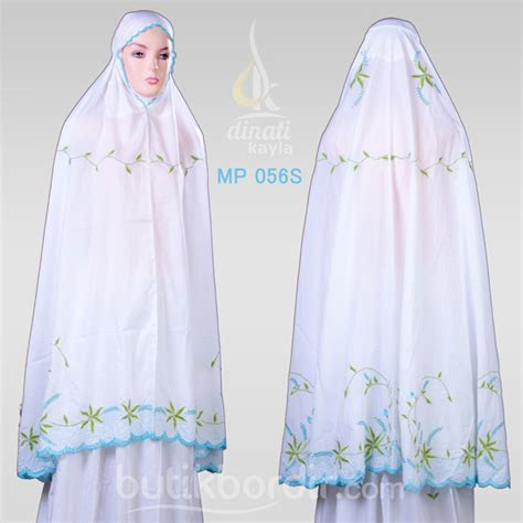 Mukena Jepang White mukena katun bordir melody mp 056s butik bordir