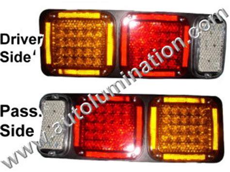 commercial truck tail light assembly semi truck trailer bus led light bulbs