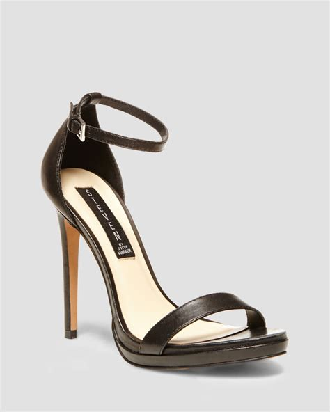 ankle high heel sandals steven by steve madden sandals rykie ankle high