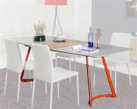 Contemporary Grey Ash Dining Table 44d2635xt Grey Ash Dining Table