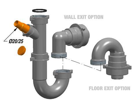 sink plumbing kit lira plumbing kit for waste disposer single bowl sink