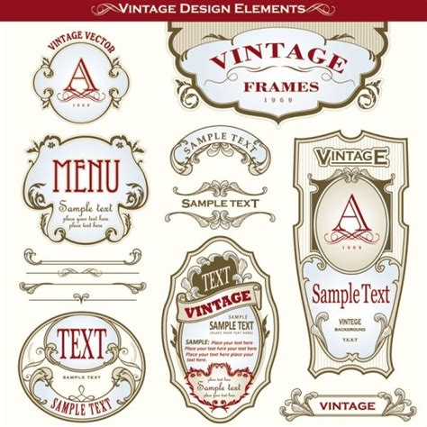 bottle label design templates beautiful gorgeous bottle label affixed 03 vector free