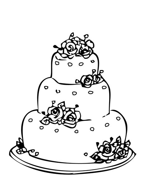 cake coloring pages pdf round wedding cake coloring pages to printing
