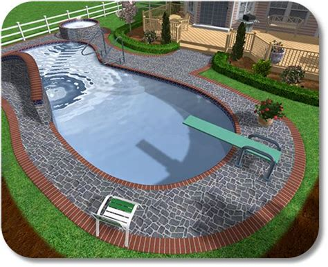 Small Backyard Inground Pool Ideas Landscape Design Swimming Pool Design Software