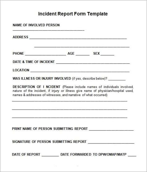 10 Incident Report Templates Word Excel Pdf Formats Incident Report Template Microsoft Word