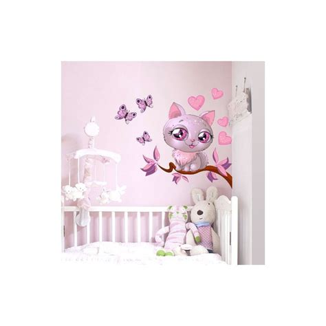 stickers geant chambre fille kit stickers enfant nature