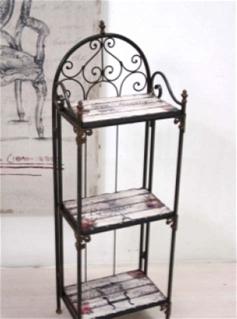 scaffali bassi scaffale ferro vintage chic basso etnico outlet mobili