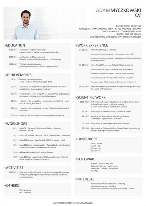 Cv On Englisch Resume Template Cv