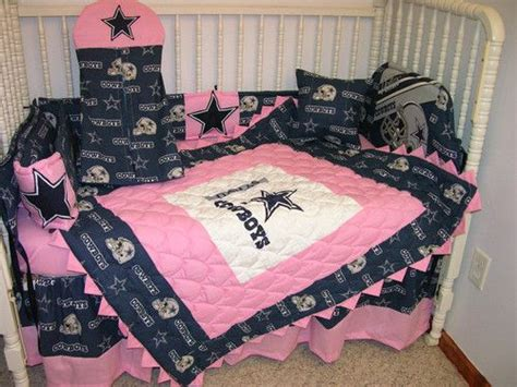 dallas cowboys baby crib set crib bedding set made w pink dallas cowboys with pink