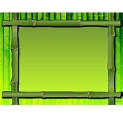 Free Green Bamboo Frame Backgrounds For PowerPoint