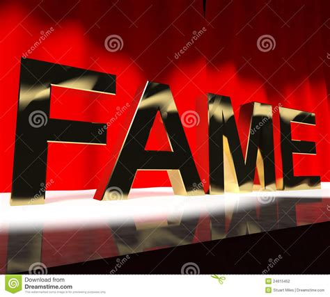 define web celebrity fame word on stage meaning celebrity recognition and being