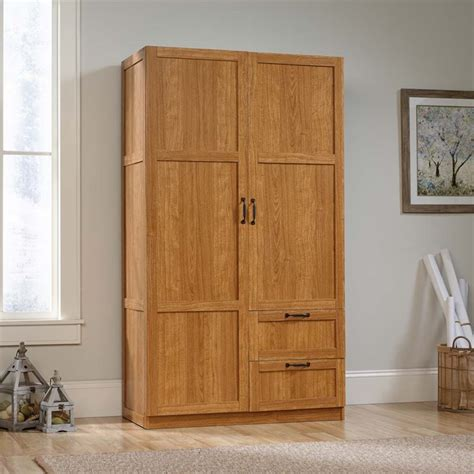 sauder wardrobe armoire sauder select wardrobe armoire in highland oak 420063