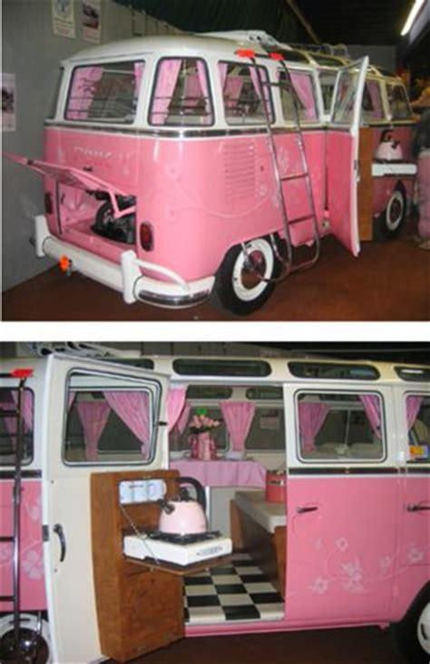 pink volkswagen inside pink n white vw restored auto vintage style hippe