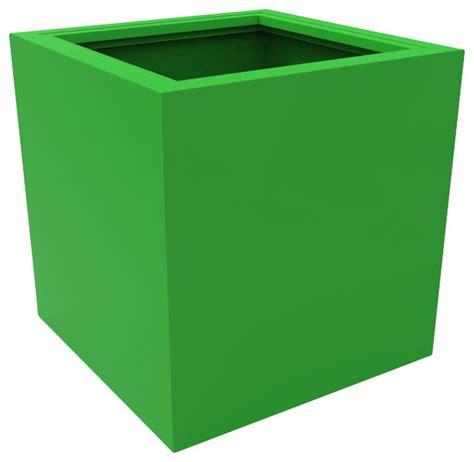 Green Planter Pots by Medium Athens Planter Lime Green Modern Outdoor Pots