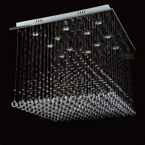 Glass Bubble Light Chandelier Large Modern Crystal Chandelier Lights Square 800mm