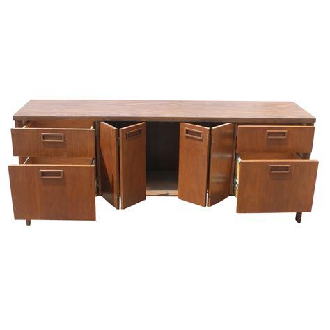 6ft Vintage Kimball Walnut Credenza Cabinet   eBay