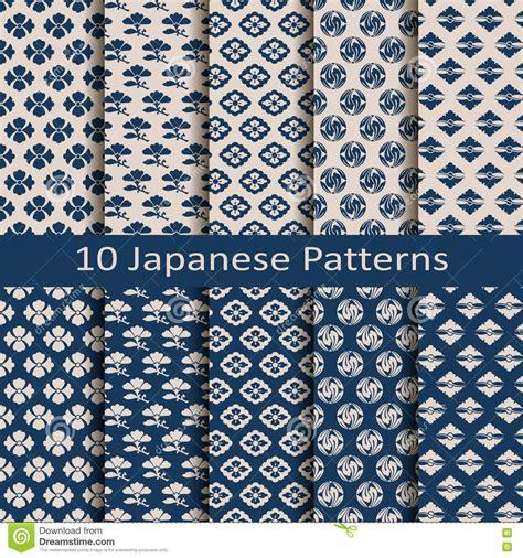 japanese pattern design vector set of ten seamless vector traditional japanese patterns