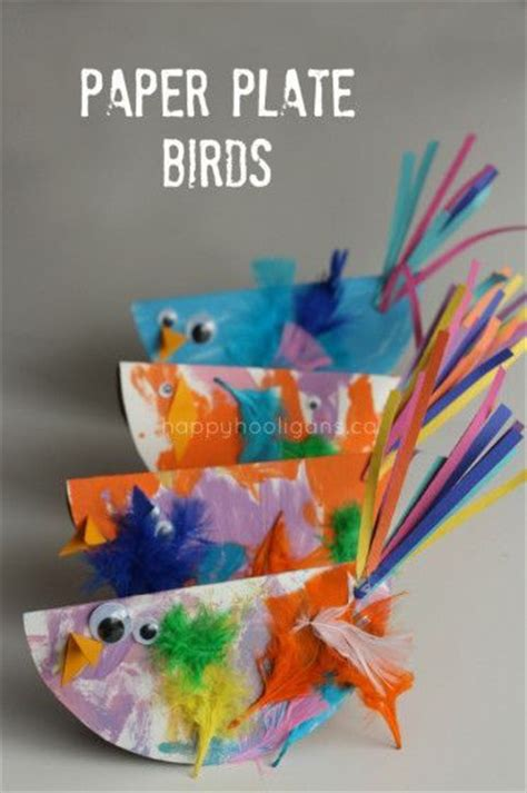 Bird Paper Plate Craft - bird crafts paper plates and happy hooligans on