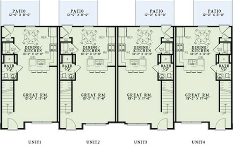 4 plex plans plan w60560nd attractive 4 plex house plan e