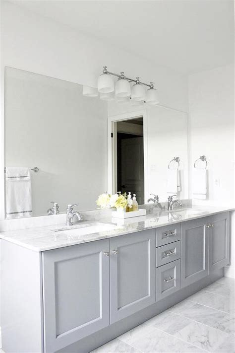 gray cabinets contemporary bathroom benjamin