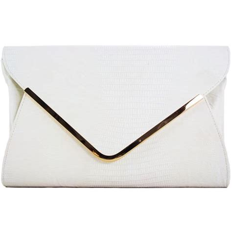 pattern envelope clutch xardi white croc pattern envelope clutch bag