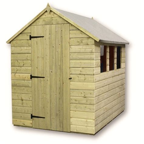 Shed 10 X 5 by 10 X 5 Pressure Treated Tongue And Groove Apex Shed With 4