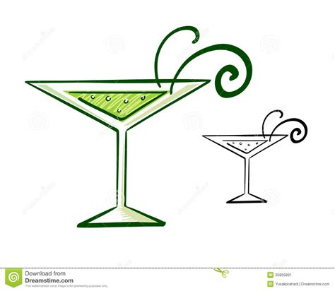 martini illustration martini glass illustration stock image image 35855891