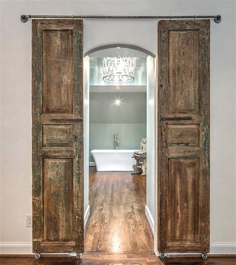barn bathroom door modern and rustic interior sliding barn door designs