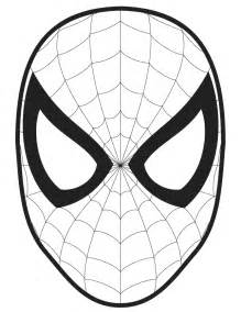 spider man face template cut out coloring page h amp m