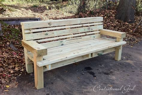 how to make a wooden bench with a back building benches the gift of good centsational girl