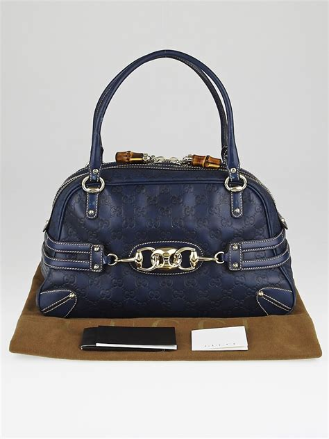 Gucci Safiano 9885 4 gucci navy blue guccissima leather wave boston bag yoogi s closet
