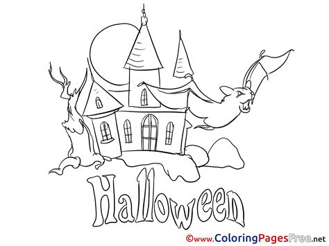 halloween coloring pages castle castle printable halloween coloring sheets