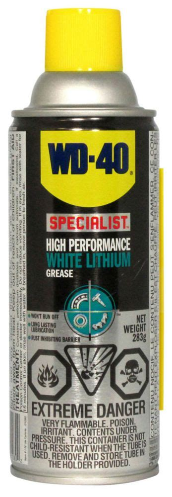 Promo Wd40 Specialist High Performance White Lithium Grease Jv 21l B wd 40 specialist high performance white lithium grease the home depot canada