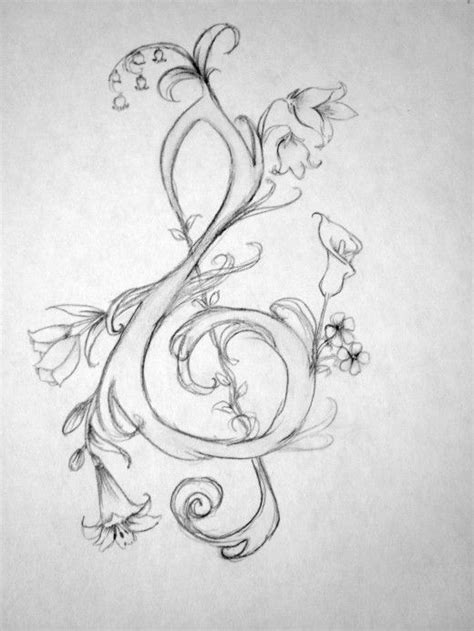 tattoo instructions how to draw a treble clef step by step