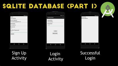 android studio tutorial login register login and signup sqlite database part 1 youtube