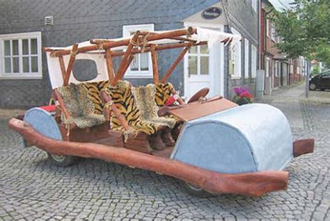 Feuerstein Auto by A German Car Made The Flinstone Flintstones Mobile